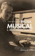 prosa musical ii: pensamiento musical-gerardo diego cendoya-9788416453368