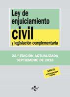 ley de enjuiciamiento civil y legislacion complementaria (22ª ed. )-victor moreno catena-9788430975068