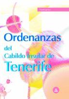 ORDENANZAS DEL CABILDO INSULAR DE TENERIFE: TEMARIO