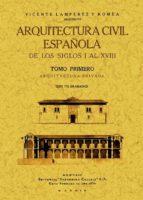 arquitectura civil española de los siglos i al xviii. (2 tomos) vicente lamperez y romea 9788490013168