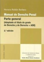 manual de derecho penal. parte general-horacio roldan barbero-9788490454268