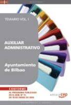 auxiliar administrativo del ayuntamiento de bilbao. temario vol. i.-9788499375168