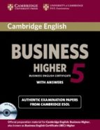 cambridge english business 5 higher self study pack (student s book with answers and audio cd) 9781107669178