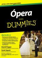 opera para dummies scott speck david pogue 9788432901478