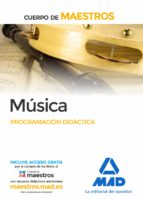 cuerpo de maestros música. programación didáctica-9788490931578