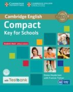 compact key for schools (ket4s) student s book without answers with cd rom & testbank 9781107527188