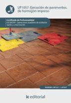 (i.b.d.) ejecución de pavimentos de hormigón impreso 9788415792888