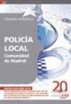 POLICIA LOCAL COMUNIDAD DE MADRID. TEMARIO ESPECIFICO