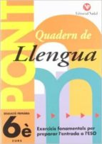 pont, llengua 6 educacio primaria 3 cicle quadern-jose nadal colome-rosa nadal marti-9788478871988