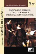 ensayos de derecho constitucional y procesal constitucional-domingo garcia belaunde-9789567799688