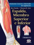 anatomia concisa e ilustrada de lippincott, vol. 1: espalda, miembro superior e inferior-9789588950488