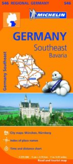 mapa regional germany southeast bavaria-9782067183698