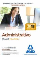 administrativo de la administracion general del estado (promocion interna). temario (vol. 2)-9788414215098