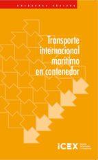 transporte internacional marítimo en contenedor alfonso cabreras canovas 9788478117598