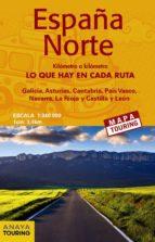 mapa de carreteras españa norte (desplegable), escala 1:340.000 2018 (mapa touring) (8ª ed.) 9788491580898