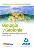 PROFESORES DE ENSEÑANZA SECUNDARIA BIOLOGÍA Y GEOLOGÍA. PROPUESTA DE PROGRAMACIÓ - 9788414217108 - VV.AA.