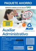 PAQUETE AHORRO AUXILIAR ADMINISTRATIVO DEL SERVICIO ABDALUZ DE SALUD (INCLUYE TEMARIO COMÚN Y TEST; TEMARIO ESPECIFICO VOL 1 Y 2; TEST Y CASOS PRÁCTICOS; SIMULACROS DE EXAMEN Y ACCESO A CAMPUS ORO) - 9788414223918 - VV.AA.