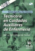 TECNICO/A EN CUIDADOS AUXILIARES DE ENFERMERIA: SERVICIO GALLEGO DE SALUD: TEMARIO ESPECIFICO Y TEST (VOL. 2) - 9788417287818 - VV.AA.