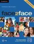 FACE2FACE FOR SPANISH SPEAKERS SECOND EDITION PACKS PRE-INTERMEDIATE PACK (STUDENT S BOOK WITH DVD-ROM, SPANISH      SPEAKERS HANDBOOK WITH CD, WORKBOOK WITH KEY) - 9788490363928 - VV.AA.