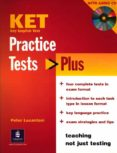PRACTICE TESTS PLUS KET STUDENTS BOOK AND AUDIO CD PACK - 9781405822848 - VV.AA.