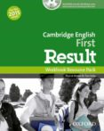 CAMBRIDGE ENGLISH: FIRST (FCE) RESULT WORKBOOK WITHOUT KEY WITH AUDIO CD - 9780194511858 - VV.AA.
