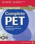 COMPLETE PET: WORKBOOK WITH ANSWERS WITH AUDIO CD - 9788483237458 - VV.AA.