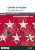 GESTION DE EMPLEO DE LA COMUNIDAD DE MADRID: TEMARIO ESPECIFICO V OLUMEN 2 - 9788490259658 - VV.AA.