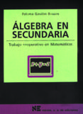 ALGEBRA EN SECUNDARIA - 9788427714588 - PALOMA GAVILAN