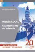 POLICIA LOCAL DEL AYUNTAMIENTO DE VALENCIA. TEST PSICOTECNICOS - 9788468106588 - VV.AA.