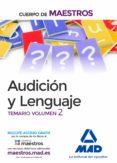 CUERPO DE MAESTROS AUDICIÓN Y LENGUAJE. TEMARIO VOLUMEN 2 - 9788414206898 - VV.AA.