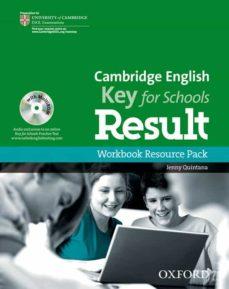 Descarga gratuita de libros electrónicos para Kindle Fire CAMBRIDGE ENGLISH KEY FOR SCHOOLS RESULT WORKBOOK RESOURCE PACK W ITHOUT KEY (Spanish Edition)