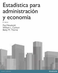 estadistica para administración y economia-paul newbold-9788415552208