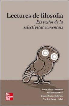 Encuentroelemadrid.es Antologia De Lectures De Filosofia. Batxillerat Image