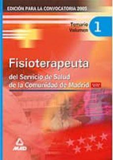 Relaismarechiaro.it Fisioterapeuta Del Servicio De Salud De La Comunidad De Madrid: T Emario (Vol. I) Image