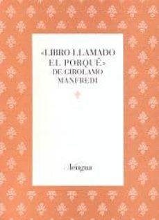 Libros de audio en inglés descarga gratuita mp3 LIBRO LLAMADO EL PORQUE DE GIROLAMO MANFREDI 9788493765408 FB2 iBook PDF (Literatura española)