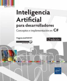inteligencia artificial para desarrolladores: conceptos e implementacion en c# (2ª ed.)-9782409014918