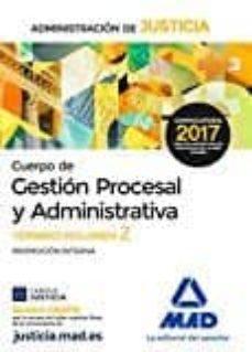 Cronouno.es Cuerpo De Gestion Procesal Y Administrativa De La Administracion De Justicia: Temario (Volumen 2) Image