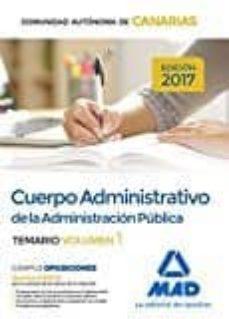 Mrnice.mx Cuerpo Administrativo De La Administracion Publica De La Comunidad Autonoma De Canarias: Temario (Vol. 1) Image