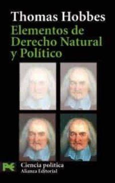 elementos de derecho natural y politico-thomas hobbes-9788420659718