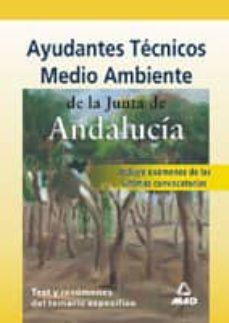 Debatecd.mx Ayudantes Tecnicos De Medio Ambiente De La Junta De Andalucia: Te St Y Resumenes Del Temario Especifico Image
