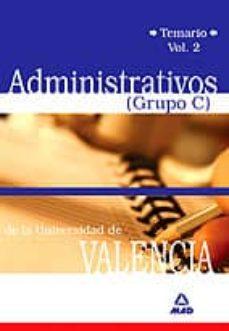 Cronouno.es Administrativos (Grupo C) Universidad De Valencia: Temario (Vol. I) Image