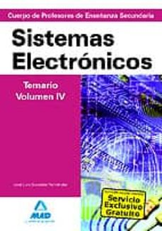 Geekmag.es Cuerpo De Profesores De Enseñanza Secundaria: Sistemas Electronic Os: Temario: Volumen Iv Image