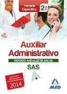 Viamistica.es Auxiliar Administrativo Del Servicio Andaluz De Salud. Temario Es Pecifico Vol. 2 Image