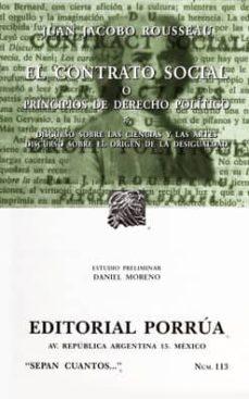 Chapultepecuno.mx El Contrato Social O Principios De Derecho Politico Image