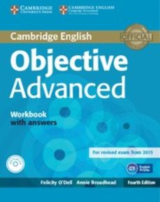Descarga de libros online OBJECTIVE ADVANCED WORKBOOK WITH ANSWERS WITH AUDIO CD 4TH EDITION
