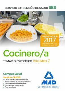 cocinero/a del servicio extremeño de salud (ses): temario especifico (vol. 2)-9788414211328