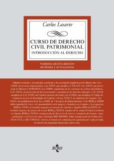 Descargar CURSO DE DERECHO CIVIL PATRIMONIAL: INTRODUCCION AL DERECHO gratis pdf - leer online