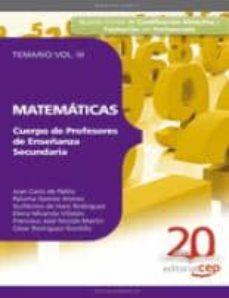 Geekmag.es Cuerpo De Profesores De Enseñanza Secundaria. Matematicas. Temari O Vol. Iii. Image