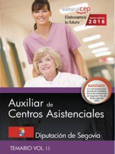 Followusmedia.es Auxiliar De Centros Asistenciales: Diputacion De Segovia: Temario Vol. Ii Image