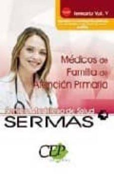 Ojpa.es Oposiciones Medicos De Familia De Atencion Primaria. Servicio Mad Rileño De Salud (Sermas). Temario (Vol. V) Image